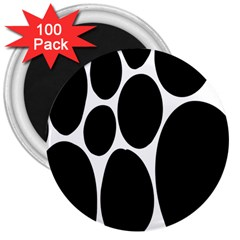 Dalmatian Black Spot Stone 3  Magnets (100 Pack) by Mariart