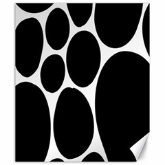 Dalmatian Black Spot Stone Canvas 20  X 24