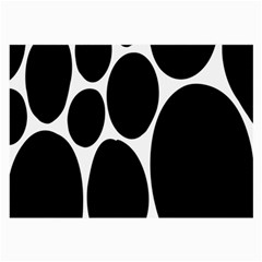 Dalmatian Black Spot Stone Large Glasses Cloth by Mariart