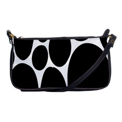 Dalmatian Black Spot Stone Shoulder Clutch Bags by Mariart