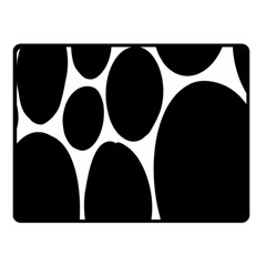 Dalmatian Black Spot Stone Fleece Blanket (small) by Mariart