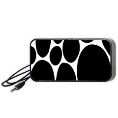 Dalmatian Black Spot Stone Portable Speaker (black) by Mariart