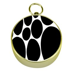 Dalmatian Black Spot Stone Gold Compasses by Mariart