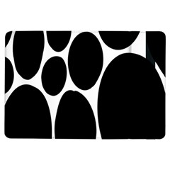Dalmatian Black Spot Stone Ipad Air Flip by Mariart