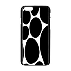 Dalmatian Black Spot Stone Apple Iphone 6/6s Black Enamel Case by Mariart