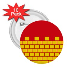 Firewall Bridge Signal Yellow Red 2 25  Buttons (10 Pack)