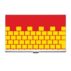 Firewall Bridge Signal Yellow Red Business Card Holders by Mariart