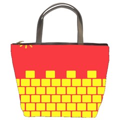 Firewall Bridge Signal Yellow Red Bucket Bags by Mariart