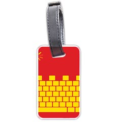 Firewall Bridge Signal Yellow Red Luggage Tags (two Sides) by Mariart