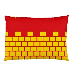 Firewall Bridge Signal Yellow Red Pillow Case (two Sides) by Mariart