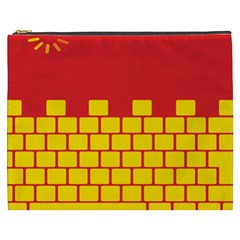 Firewall Bridge Signal Yellow Red Cosmetic Bag (xxxl)  by Mariart