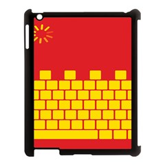 Firewall Bridge Signal Yellow Red Apple Ipad 3/4 Case (black) by Mariart