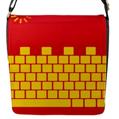 Firewall Bridge Signal Yellow Red Flap Messenger Bag (s) by Mariart
