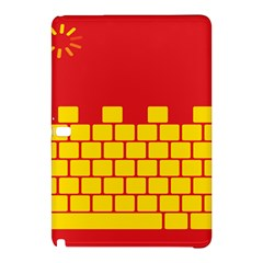 Firewall Bridge Signal Yellow Red Samsung Galaxy Tab Pro 10 1 Hardshell Case by Mariart
