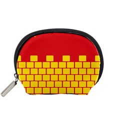 Firewall Bridge Signal Yellow Red Accessory Pouches (small)  by Mariart