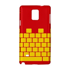 Firewall Bridge Signal Yellow Red Samsung Galaxy Note 4 Hardshell Case by Mariart