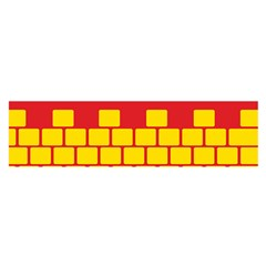 Firewall Bridge Signal Yellow Red Satin Scarf (oblong) by Mariart