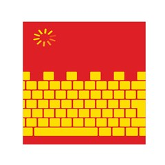 Firewall Bridge Signal Yellow Red Small Satin Scarf (square) by Mariart
