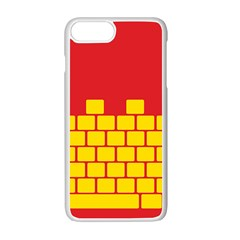 Firewall Bridge Signal Yellow Red Apple Iphone 7 Plus White Seamless Case by Mariart
