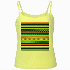 Aztec Triangle Chevron Wave Plaid Circle Color Rainbow Yellow Spaghetti Tank by Mariart