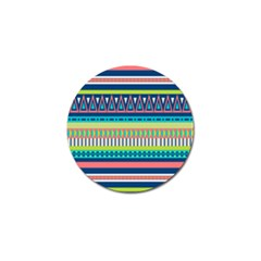 Aztec Triangle Chevron Wave Plaid Circle Color Rainbow Golf Ball Marker (10 Pack) by Mariart