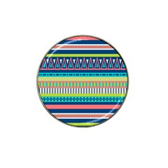 Aztec Triangle Chevron Wave Plaid Circle Color Rainbow Hat Clip Ball Marker by Mariart