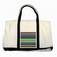 Aztec Triangle Chevron Wave Plaid Circle Color Rainbow Two Tone Tote Bag by Mariart