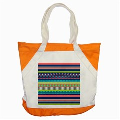 Aztec Triangle Chevron Wave Plaid Circle Color Rainbow Accent Tote Bag by Mariart