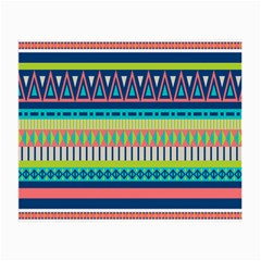Aztec Triangle Chevron Wave Plaid Circle Color Rainbow Small Glasses Cloth (2 Side) by Mariart