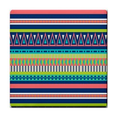 Aztec Triangle Chevron Wave Plaid Circle Color Rainbow Face Towel by Mariart