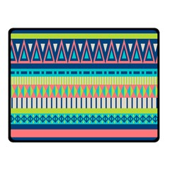 Aztec Triangle Chevron Wave Plaid Circle Color Rainbow Fleece Blanket (small) by Mariart