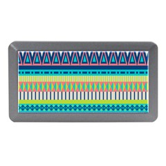 Aztec Triangle Chevron Wave Plaid Circle Color Rainbow Memory Card Reader (mini) by Mariart
