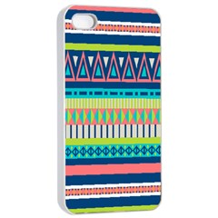 Aztec Triangle Chevron Wave Plaid Circle Color Rainbow Apple Iphone 4/4s Seamless Case (white) by Mariart