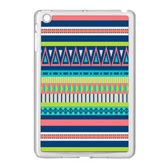 Aztec Triangle Chevron Wave Plaid Circle Color Rainbow Apple Ipad Mini Case (white) by Mariart