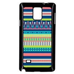 Aztec Triangle Chevron Wave Plaid Circle Color Rainbow Samsung Galaxy Note 4 Case (black) by Mariart