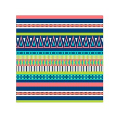 Aztec Triangle Chevron Wave Plaid Circle Color Rainbow Small Satin Scarf (square) by Mariart