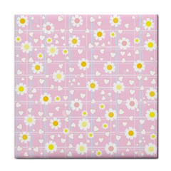 Flower Floral Sunflower Pink Yellow Tile Coasters by Mariart