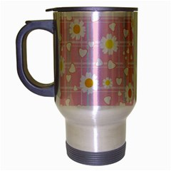 Flower Floral Sunflower Pink Yellow Travel Mug (silver Gray) by Mariart