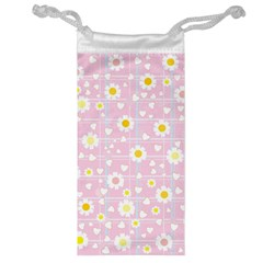 Flower Floral Sunflower Pink Yellow Jewelry Bag by Mariart