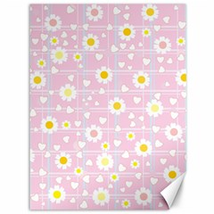 Flower Floral Sunflower Pink Yellow Canvas 36  X 48