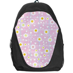 Flower Floral Sunflower Pink Yellow Backpack Bag by Mariart