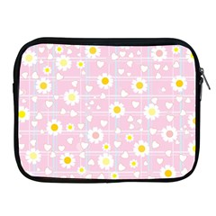 Flower Floral Sunflower Pink Yellow Apple Ipad 2/3/4 Zipper Cases by Mariart