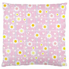 Flower Floral Sunflower Pink Yellow Standard Flano Cushion Case (one Side) by Mariart