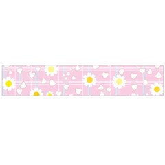 Flower Floral Sunflower Pink Yellow Flano Scarf (large) by Mariart