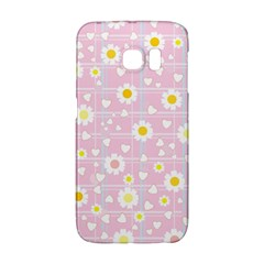 Flower Floral Sunflower Pink Yellow Galaxy S6 Edge by Mariart