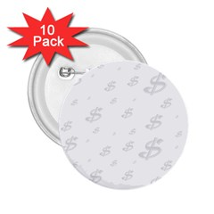 Dollar Sign Transparent 2 25  Buttons (10 Pack)