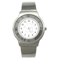Dollar Sign Transparent Stainless Steel Watch by Mariart