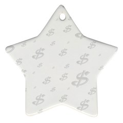 Dollar Sign Transparent Star Ornament (two Sides) by Mariart