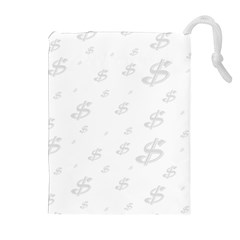 Dollar Sign Transparent Drawstring Pouches (extra Large) by Mariart