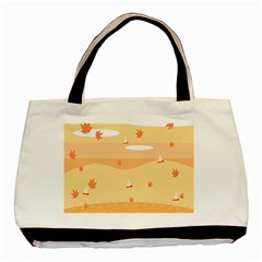Dragonfly Leaf Orange Basic Tote Bag by Mariart